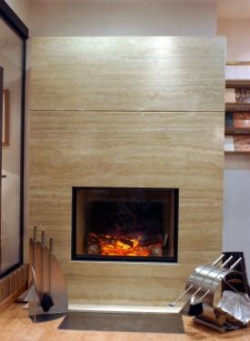 Proyectos revestimiento de chimeneas marmoles arnal - Revestimiento de chimeneas modernas ...